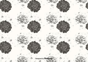 Hand Drawn Flower Pattern Vector