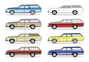 Classic Station Wagon Car vector