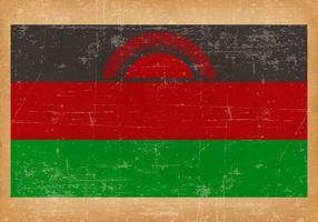 Grunge flagga av Malawai
