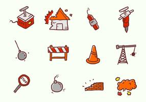 Demolition Handdrawn Icons