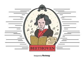 Beethoven Vektor-Illustration