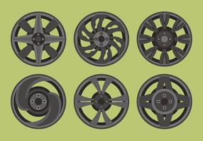 Pack de vectores de ruedas de aleación