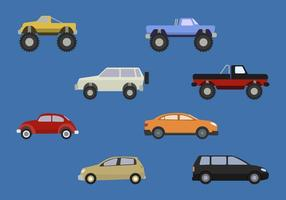Vecteurs de voiture plate