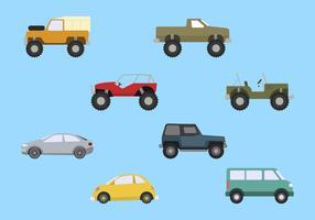 Vetores de carros planos
