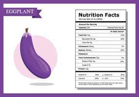 Nutrition Fakta Auberginevektor