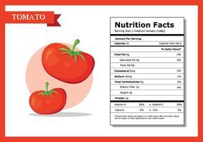 Datos Nutricionales Tomate Vector