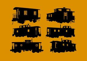Caboose Silhouette Free Vector