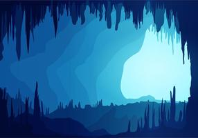 Caverne fond bleu vecteur libre