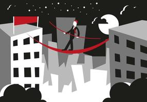Tightrope Illustration Vector