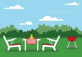 Lawn Chair Free Vector