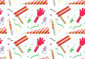 Noise Maker Party Pattern Free Vector