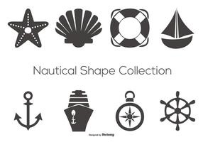 Collection de formes vectorielles nautiques