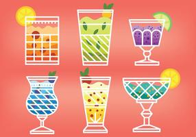 Mocktail Vector Icons