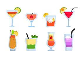 Vectores planos Mocktail