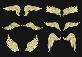 set vettoriale di ali d'angelo