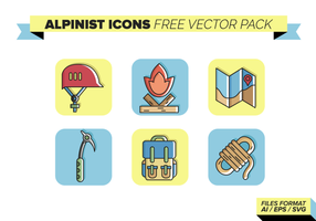 vecto pack gratuito di icone alpiniste