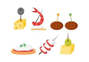 Free Outstanding Appetizers Vectors