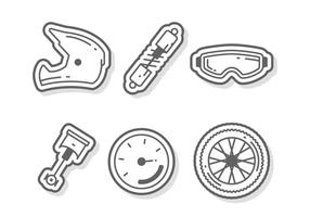 Vrijstaande Motorcross Vectoren