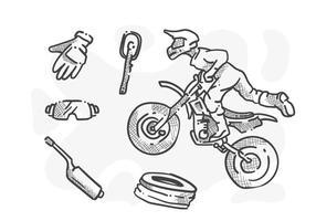 Des vecteurs de motocyclettes exceptionnels