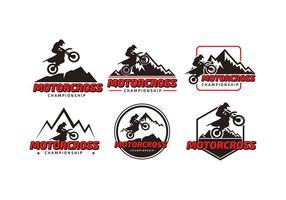 Motorcross Championship Logo Gratis Vector