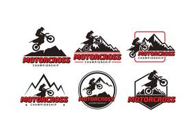 Logotipo do campeonato de motorcross vetor livre