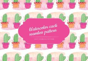 Cute Cacti vector patrón