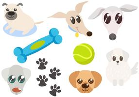 Free Dog and Dog Toys Vectors