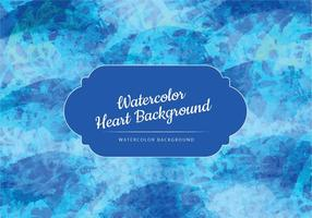 Blue Waves Watercolor Vector Background