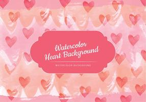 Hearts Watercolor Vector Background