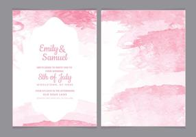 Watercolor Vector Wedding Invitation