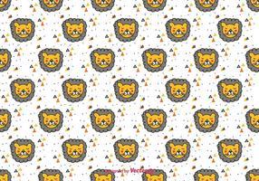 Doodle Lion Vector Pattern