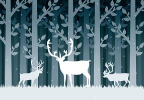 Snow-caribou-vector
