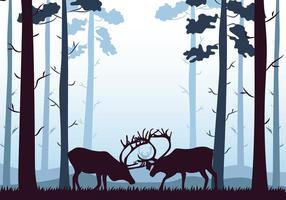 Caribou Silhouette vector