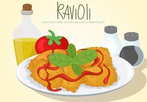 Ravioli pasta vector