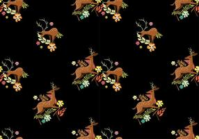 Caribou Pattern Free Vector