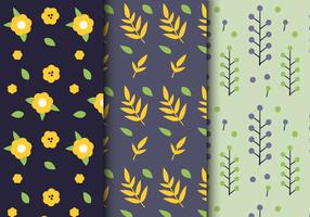 Padrão floral de folha livre