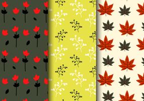 Motif floral d'automne gratuit