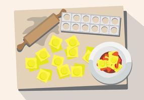 Ravioli pasta vektor
