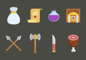 Vettori di giochi di gioco RPG piatto