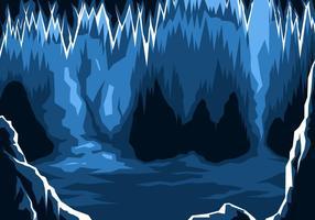 Vecteur libre de caverne de glace
