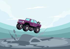 Car Jumping vector