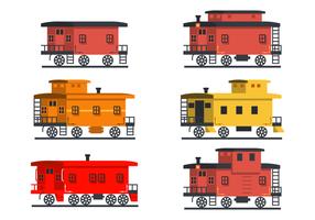 Plano, caboose, vector