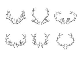 Caribou horn vektor