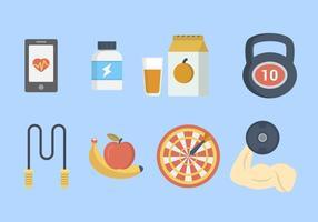 Flat Fitness Vektoren