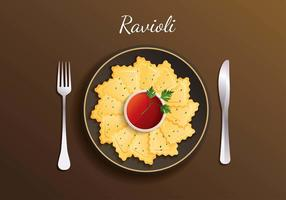Vecteur libre de raviolis