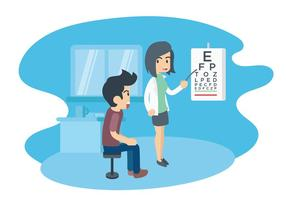 Eye Test Illustratie