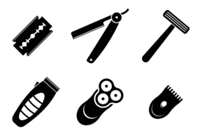 Schwarzer Rasierer Icon Vektor