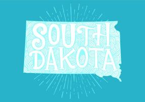 South Dakota state lettering vector