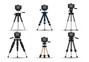Camera statief realistische vector set
