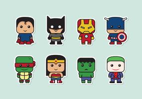 Vetores super heróis